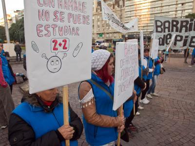 Protestas de Barrios de Pie para reclamar la