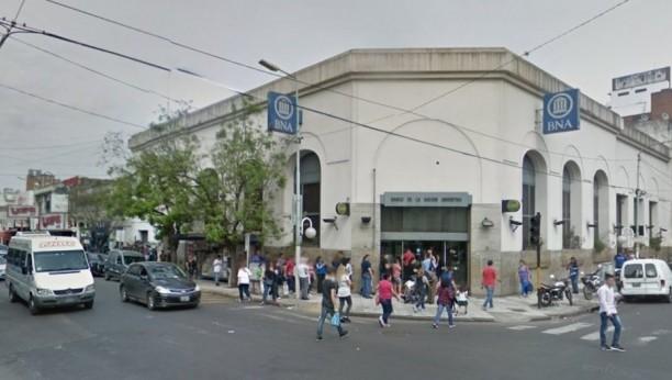 Asaltaron una sucursal del Banco Nación en Morón
