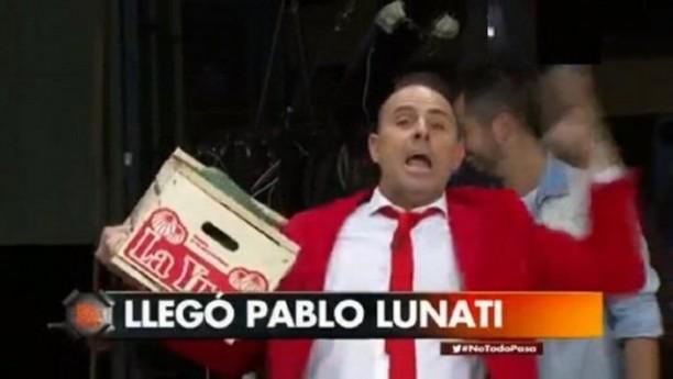 El show de Lunati en TV tras la goleada de River