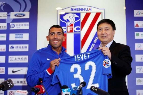 Tevez fue cuestionado por el portavoz de Shanghai Shenhua